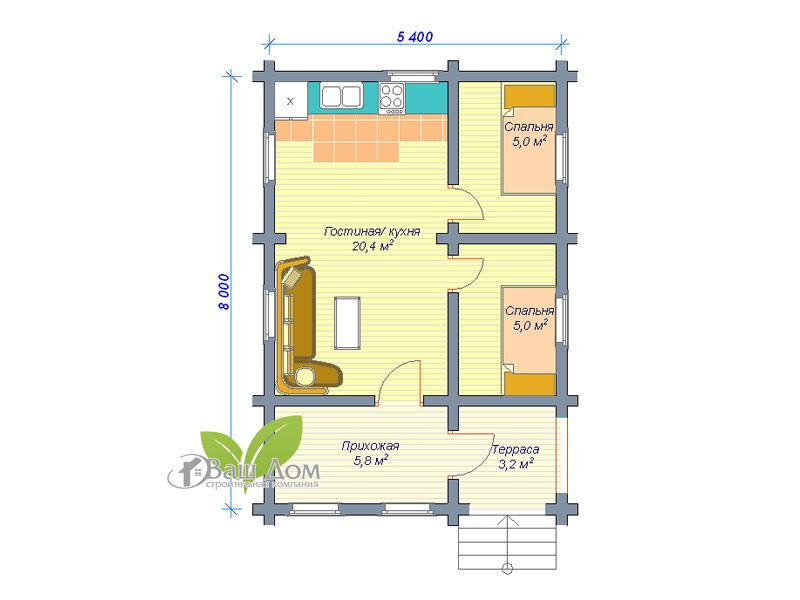 Проект дома Д-003