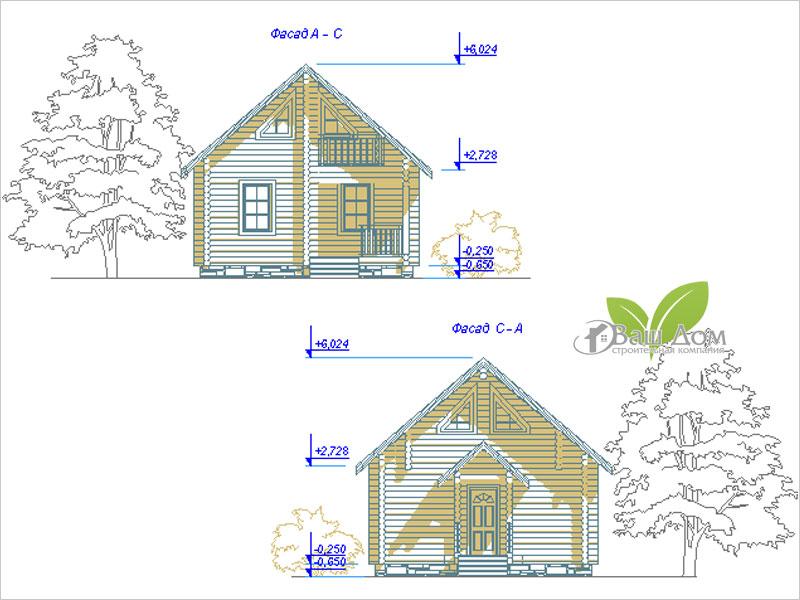 Проект дома Д-053 1