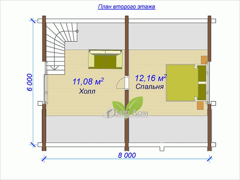 Проект дома Д-055