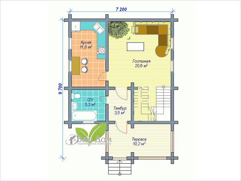 Проект дома Д-056