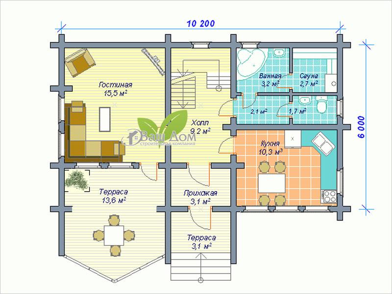 Проект дома Д-102