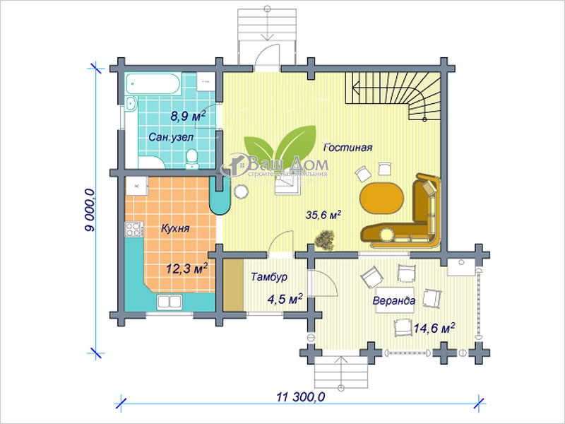 Проект дома Д-106