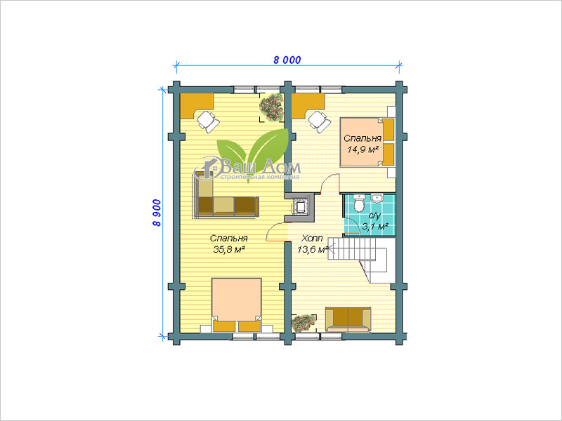 Проект дома Д-128