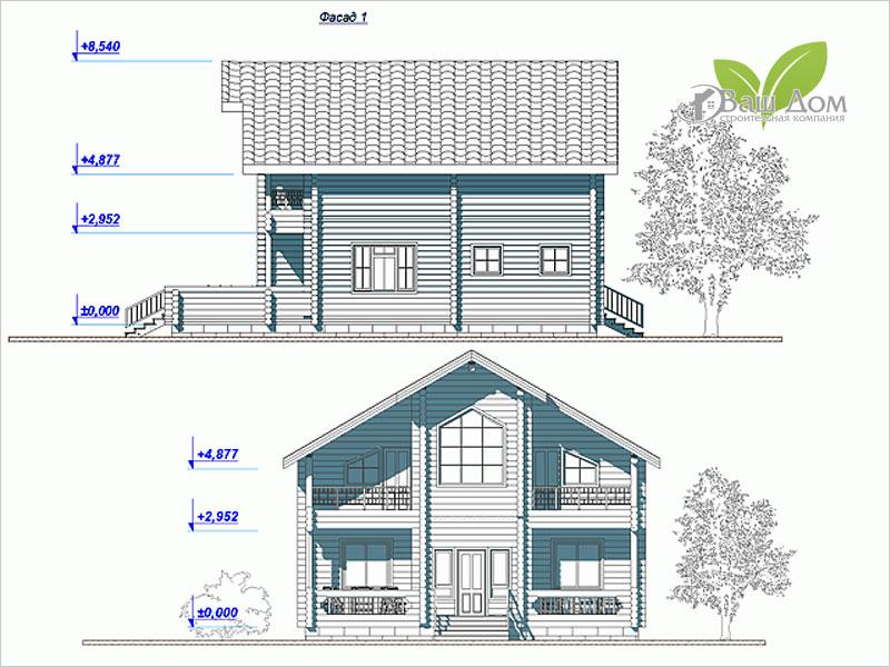 Проект дома Д-158