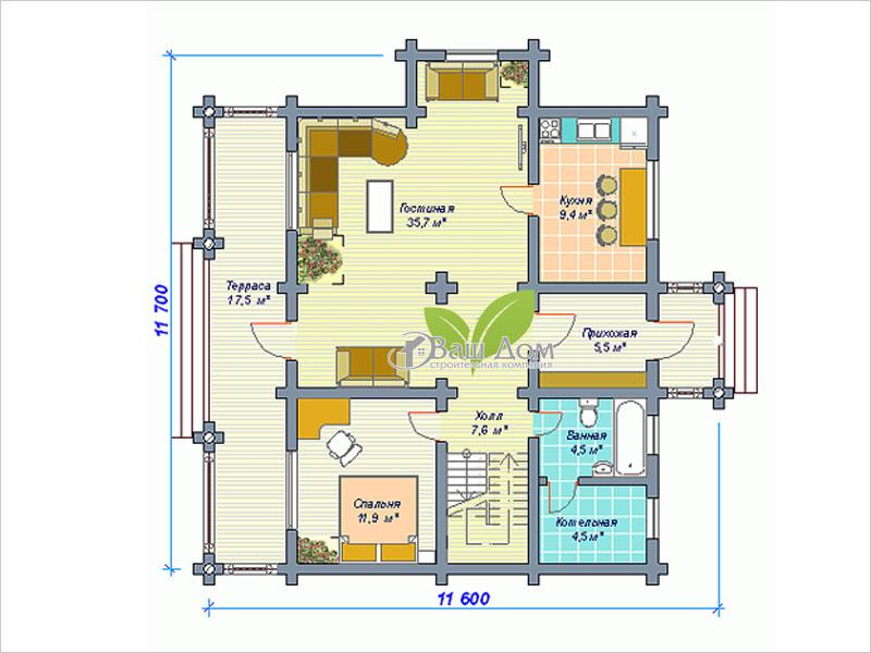 Проект дома Д-159
