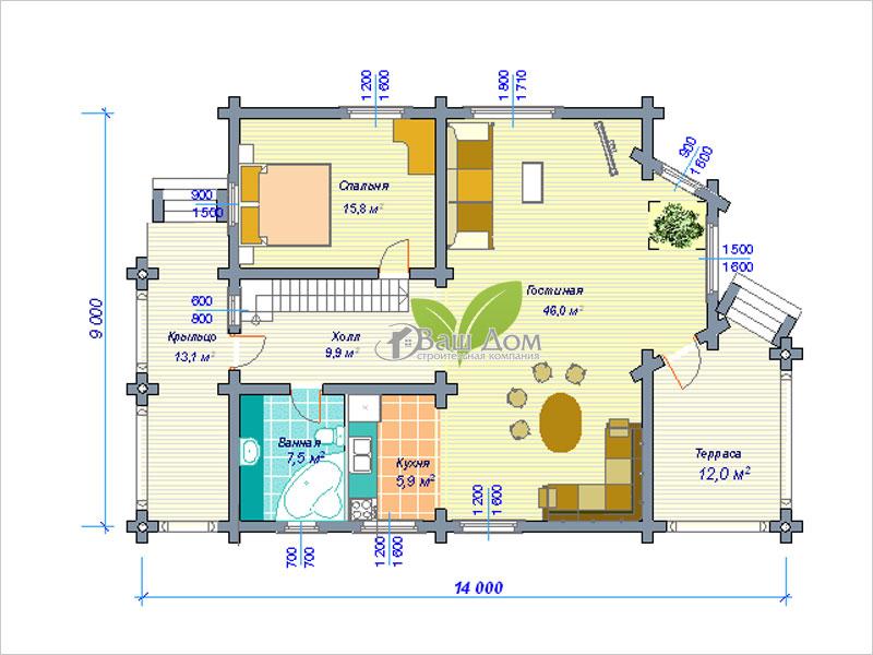 Проект дома Д-175