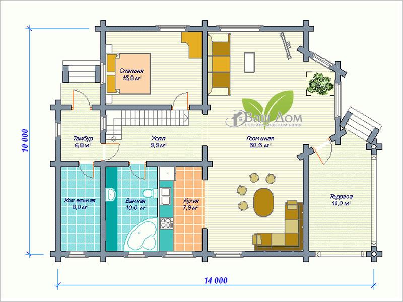 Проект дома Д-180