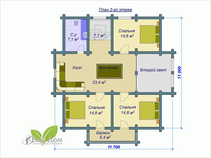 Проект дома Д-223